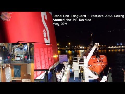 Fishguard - Rosslare Sailing | Stena Line | MS Stena Nordica | Driving On/Off | Cabin Tour | 4K