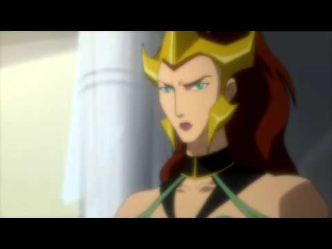 Wonder Woman Killing Mera from Justice League: The Flashpoint Paradox 2013