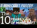 MINECRAFT 10TH BIRTHDAY: The 10 Years of Minecraft The Musical | A Minecraft Parody Avomance 2019