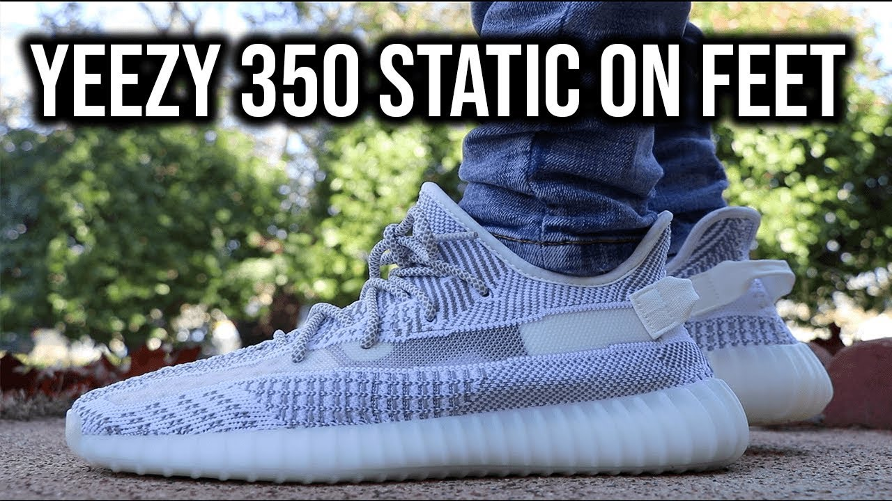 b7fd5fef5 ADIDAS YEEZY 350 STATIC ON FEET + REVIEW - YouTube