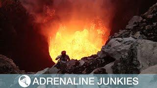 Explorers Camp Inside Volcano Crater