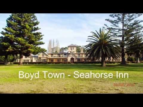 Eden, Australia - Historic Boyd Town, Boyd's Tower, Davidson Whaling Station.  Eden Wharf.