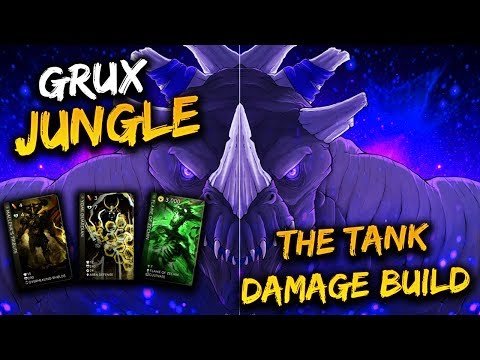 Paragon Grux Gameplay - GROWTH/ORDER THE BEST JUNGLE BUILD?!