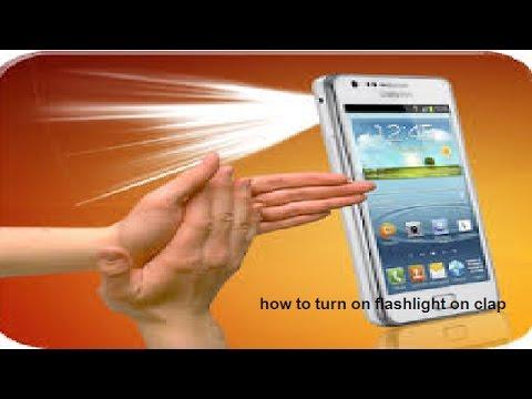 flashlight on clap
