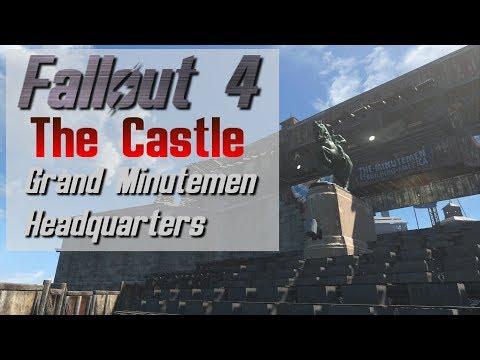 Fallout 4: The Castle - Minutemen Fortress Headquarters - Settlement Tour (Lore Friendly)