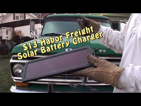 $13 Harbor Freight Solar Battery Charger. The freakin thing WORKS!!