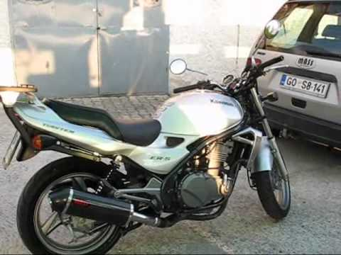 kawasaki er 5 mass exhaust gp1 carbon inox youtube. Black Bedroom Furniture Sets. Home Design Ideas