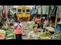 Maeklong Railway Market Bangkok, Thailand | What Happened When Train Is Coming?