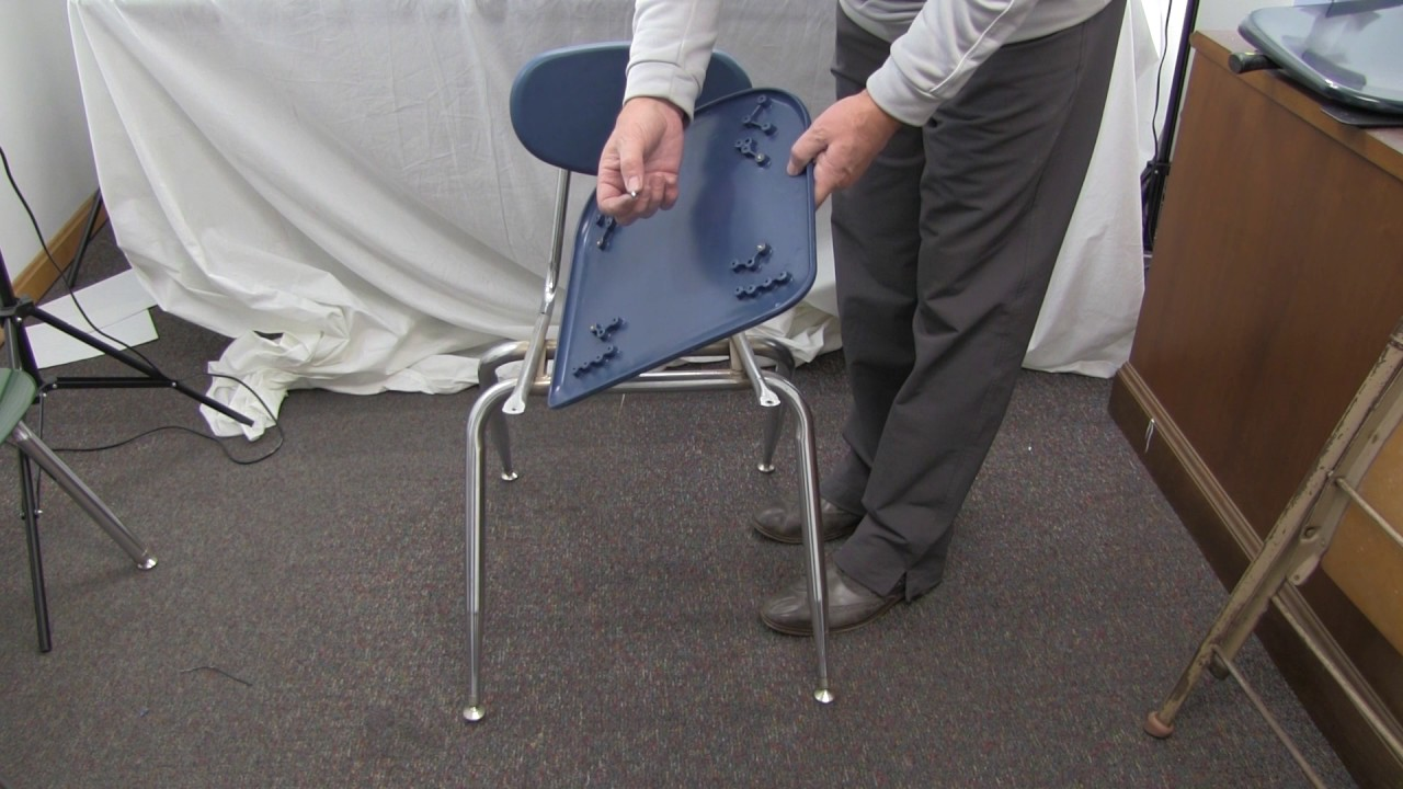 how to fix broken plastic chair high that attaches the table repairing a hard youtube