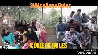 Eruma saani   SVN college rules   boys and girls