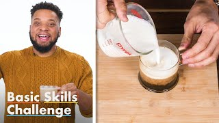 50 People Try To Froth Milk | Basic Skills Challenge | Epicurious