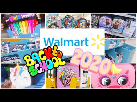 Walmart Back To School 2020 Shopping ~ Backpacks~ Lunch Boxes~ Locker Essentials ~ Classroom Decor