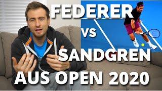 Roger Federer vs Tennys Sandgren Australian Open 2020 Quarter Final Match Analysis