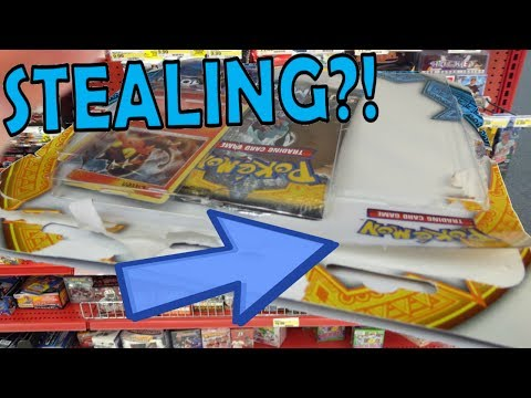 STEALING Pokemon Cards From The Store?!