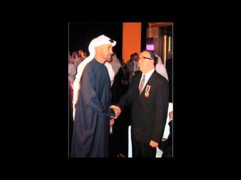 HH Shiek Mohammed Bin Zayed Al Nahyan present Abu Dhabi Medal [Wessam] to Dr. Taisser Atrak