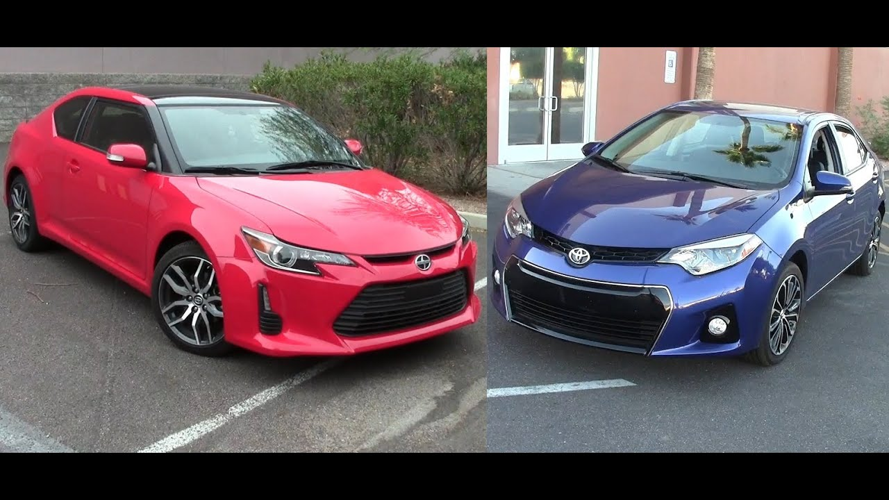 2014 scion tc and 2014 toyota corolla youtube. Black Bedroom Furniture Sets. Home Design Ideas