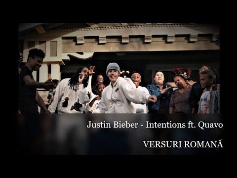 Justin Bieber - Intentions ft. Quavo  - Versuri Romana