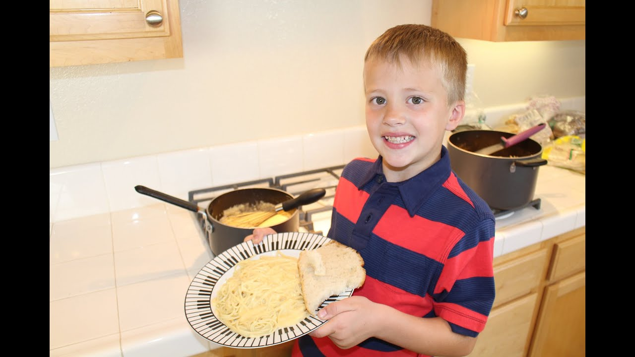 Kid Size Cooking Bechamel Cheese Sauce