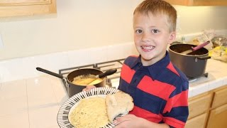 Kid Size Cooking:  Béchamel Cheese Sauce