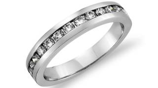 channel set diamond ring in 18k white gold 1 2 ct tw