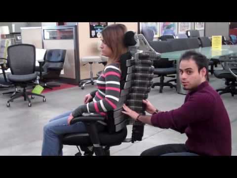 ergonomic chairs for relief for severe back pain - youtube