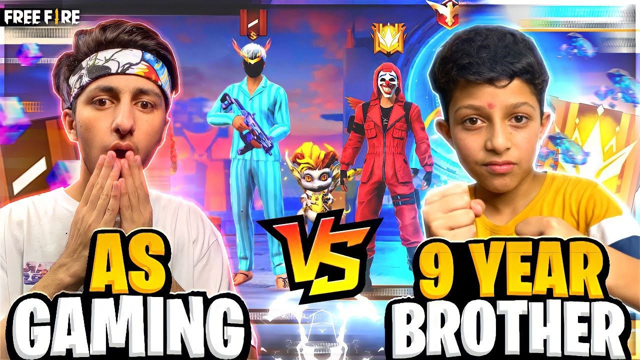My 9 Year Brother Came To My Home And Challenge Me For 1 Vs 1 | 10 Lakh Diamond - Garena Free Fire