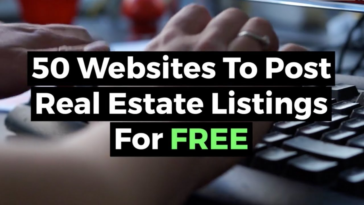 50 Websites To Post Your Real Estate Listings For FREE - REtipster