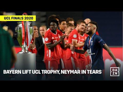 FULL CELEBRATIONS   Bayern Lift UCL Trophy, Neymar In Tears