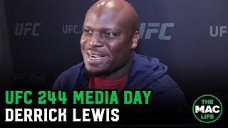 Derrick Lewis happy to fight Greg Hardy next | UFC 244 Media Day