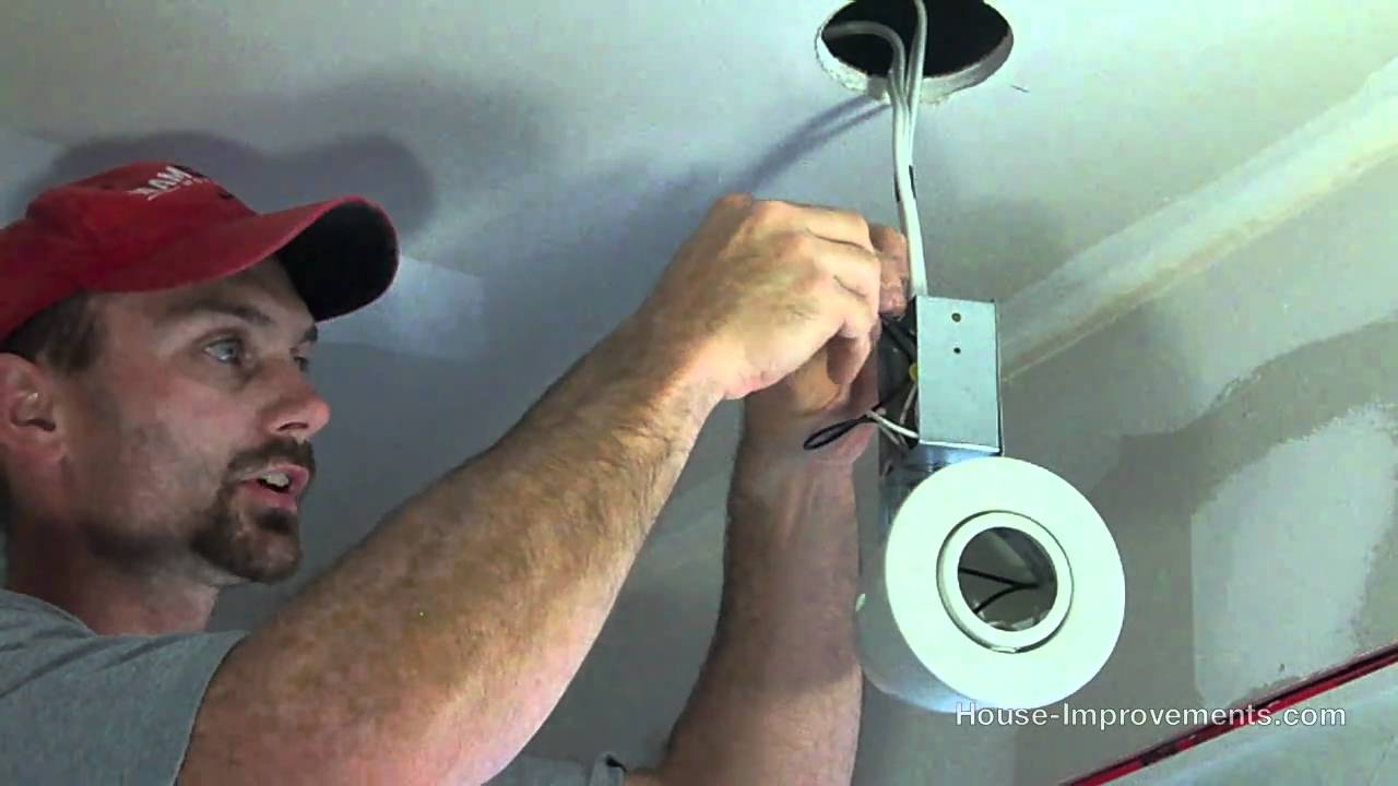 Installing Pot Lights Insulated Ceiling Vapour Barrier ...