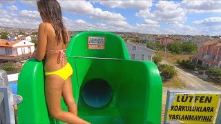 Waterslides at Trend Aquapark in Tekirdağ Türkiye