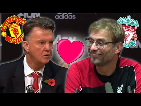 Liverpool vs Man United | Van Gaal And Klopp Press Conference Argument