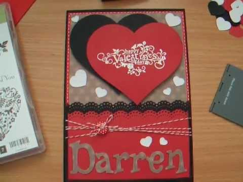 VALENTINES DAY HAND MADE CARD NAOMIS CARD MAKING VIDEO 29 JAN – Handmade Valentines Card Design