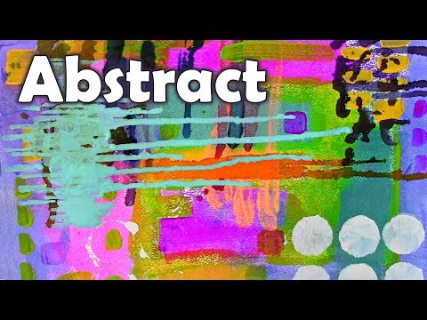 Abstract Acrylic Painting Art Tutorial  – Secret tips EASY and fun 👈 🎨