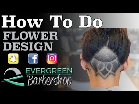 How To: Flower Hair Design | Undercut | Women's Haircut