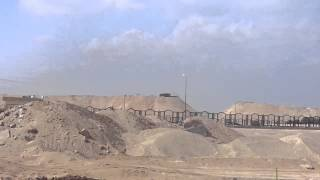 New Suez Canal: a scene in the drilling of 80 kilo meters
