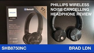 GREAT VALUE! Philips Wireless Bluetooth Active Noise-Cancelling Headphones Review (SHB8750NC)