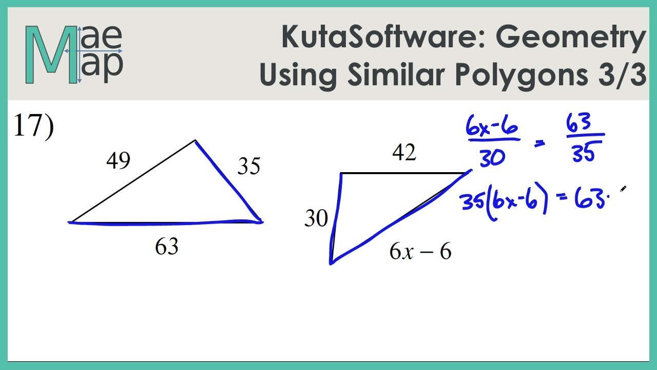 Kutasoftware Geometry Using Similar Polygons Part 3 Youtube