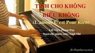 Tình Cho Không Biếu Không - Tango (L'amour C'est Pour Rien) | Piano cover | Linh Nhi