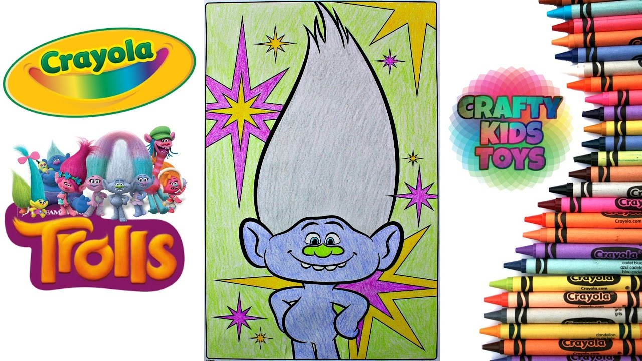 trolls crayola giant coloring pages coloring guy diamond troll