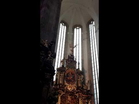 Choir in the Týn church of Prague