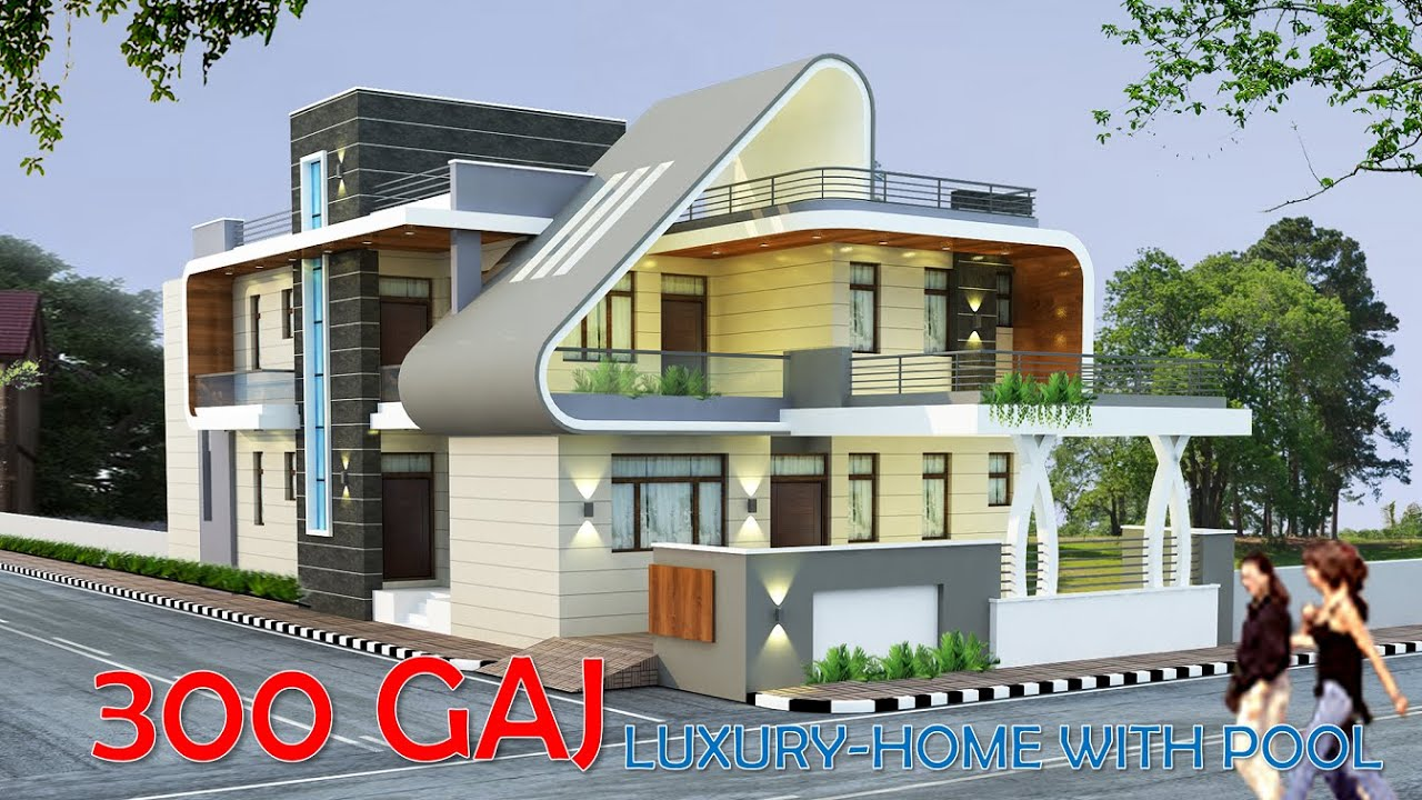 4500 sq ft Luxury house plan | 300 Gaj Latest house plan |  @BUILD IT HOME   𝗣𝗹𝗮𝗻 𝗜𝗗 - 104