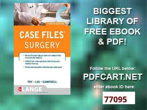 Fourth edition case files pdf surgery
