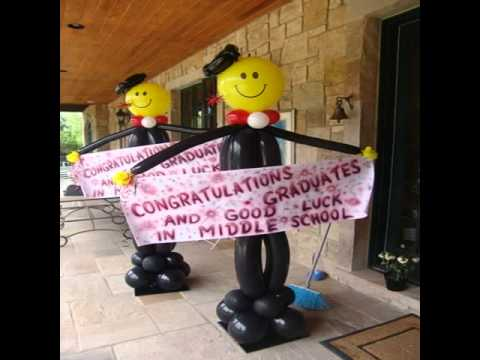 Balloon decoration ideas for graduation youtube for Balloon decoration graduation