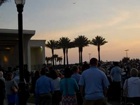 Easter Sunrise Service At Jacksonville Beach Florida 4 10 Mp4