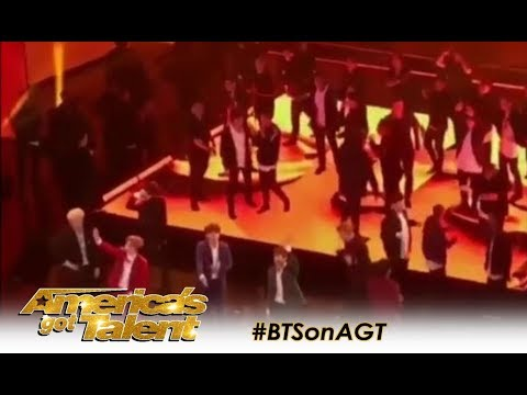 LEAK: Footage Of K-pop Group BTS Arrival and Rehearsal! | America's Got Talent 2018