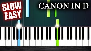 Canon in D - SLOW EASY Piano Tutorial by PlutaX