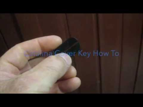 Cal Spa Cover or Catalina Spa Hot Tub Cover Latch Key How To Video