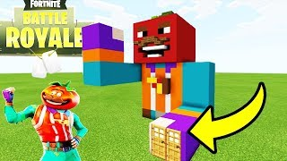 "Minecraft: How To Make a Tomato Head Statue House ""Fortnite Tutorial"""