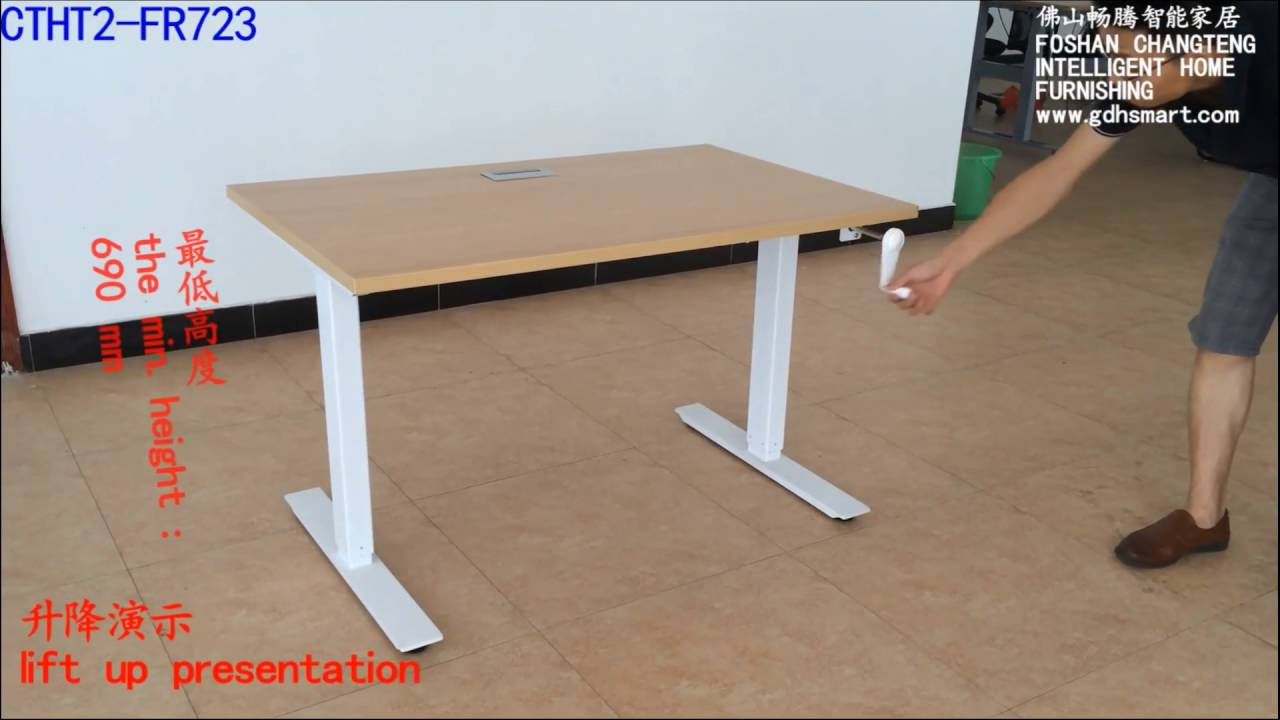 The Crank height adjustable desk of CTHT2R723 from changteng